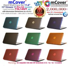 "mCover Hard Shell Case for 11.6"" HP Stream 11 Pro G2 and HP Stream 11 Rxxx series Windows laptops"