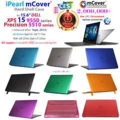 "mCover HARD Shell CASE for 15.6"" Dell XPS 15 9550 / 9560 Precision 5510/5520 series (released after Sept. 2015) Laptop Computer"