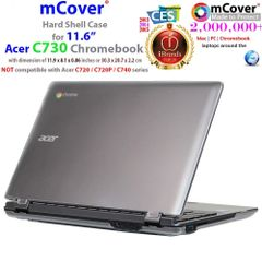 "mCover Hard Shell Case for 11.6"" Acer C730 series ChromeBook Laptop"