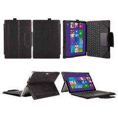 mCoque High Quality PU leather Standing Case for Microsoft Surface Pro 4 12.3-Inch (including a separate keyboard case)