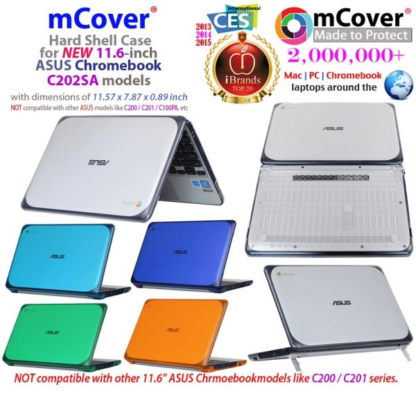 "mCover Hard Shell Case for 11.6"" ASUS Chromebook C202SA series laptop"