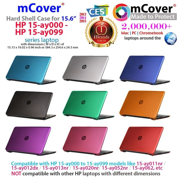 "mCover Hard Shell Case for 15.6"" HP 15-ay0XX ( 15-ay000 to 15-ay099 ) / HP 15-ba000-15-ba999/ 15-afxxx series Laptop"