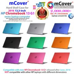 "mCover Hard Shell Case for new 2016 13.3"" HP Chromebook 13 G1 series notebook computers (Not Compatible with HP Spectre Pro Portable 13 G1)"