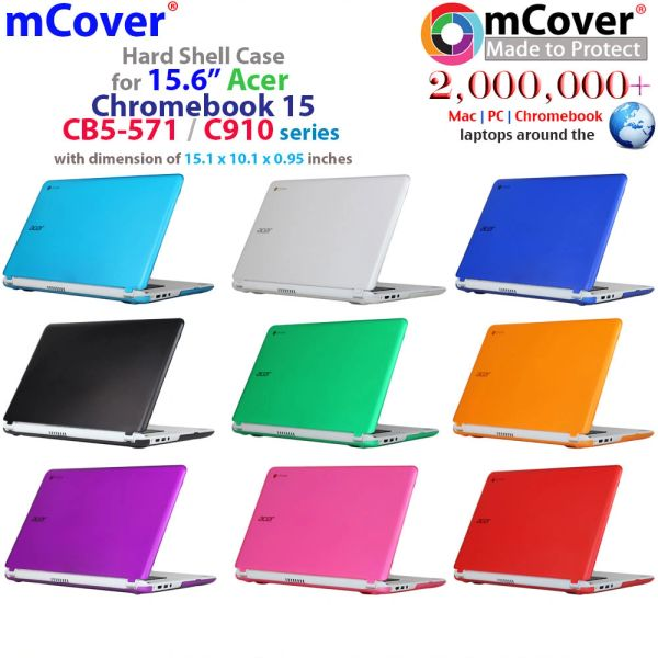 "mCover Hard Shell Case ONLY for 15.6"" Acer Chromebook 15 C910 / CB5-571 / CB3-531 / CB3-532 series laptop"
