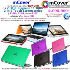 "mCover Hard Shell Case for NEW 2016 11.6"" Dell Inspiron 11 3168 / 3169 / P25T 2-in-1 Convertible Laptop"