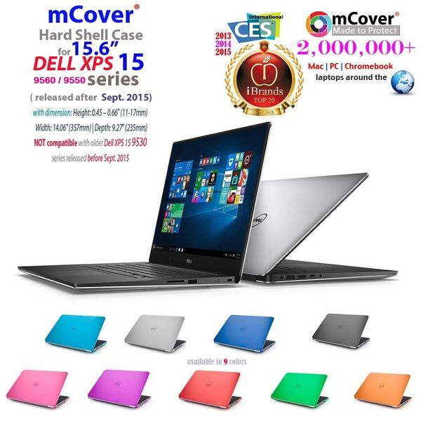 "mCover Hard Shell Case for 15.6"" Dell XPS 15 7590/ 9580 / 9570 / 9560 / 9550 / Precision 5530 / 5520 / 5510 series (released after Sept. 2015) Ultrabook laptop"