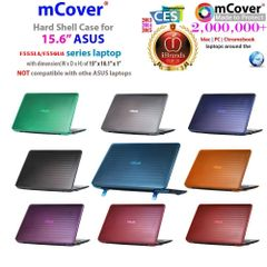 "mCover Clear Hard Shell Case ONLY for NEW 2016 15.6"" ASUS F555LA / F556UA series laptop"