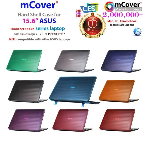 """mCover Clear Hard Shell Case ONLY for NEW 2016 15.6"""" ASUS F555LA / F556UA series laptop"""