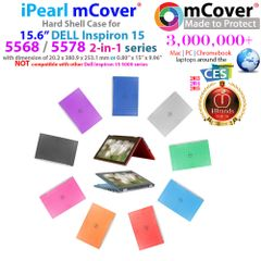 """mCover Hard Shell Case ONLY for 15.6"""" Dell Inspiron 15 5568/5578 2 in 1 Series Laptop (**NOT for other Dell 15.6"""" laptop**)"""