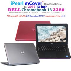 "mCover Hard Shell Case for 13.3"" Dell Chromebook 13 3380 series laptop computers released after Feb. 2017"