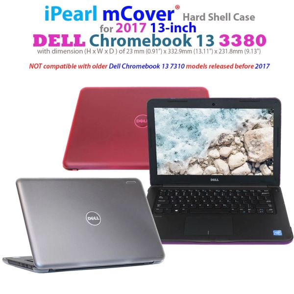"""mCover Hard Shell Case for 13.3"""" Dell Chromebook 13 3380 series laptop computers released after Feb. 2017"""