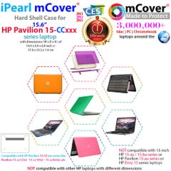 "mCover Hard Shell Case for 15.6"" HP 15-ccXXX (15-cc039na etc.) and 15-cbXXX and 15-cdXXX series Laptop"