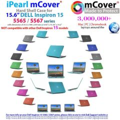 """mCover Hard Shell Case ONLY for 15.6"""" Dell Inspiron 15 5565 / 5567 laptop"""