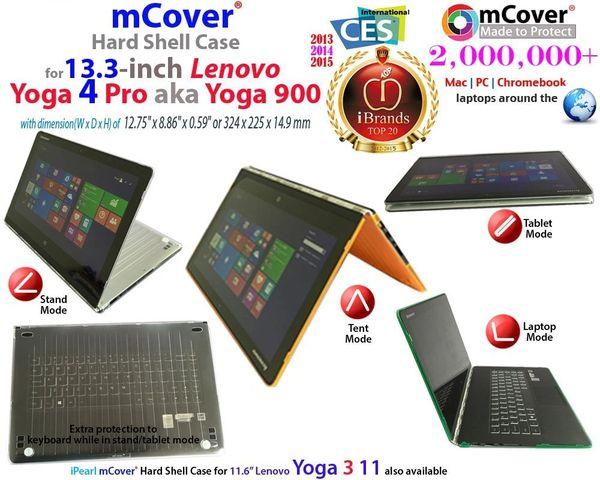 mCover Hard Shell Case for Lenovo YOGA 900 (aka Yoga 4 Pro) 13.3-inch laptop