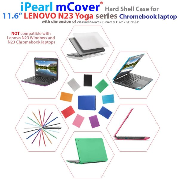 "mCover Hard Shell Case for 2017 11.6"" Lenovo N23 Yoga series Chromebook Laptop (NOT fitting Lenovo N23 Chromebook / Windows laptop )"