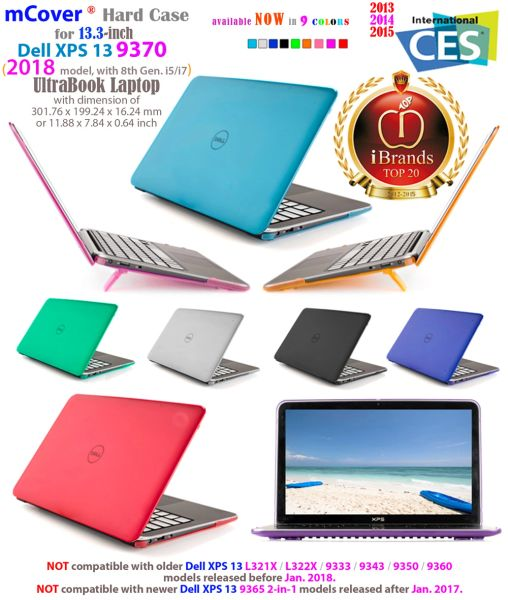 "mCover Hard Shell Case for 13.3"" Dell XPS 13 model 7390 Non 2 in 1 / 9380 / 9370 (2019 / 2018 model) Ultrabook laptop"