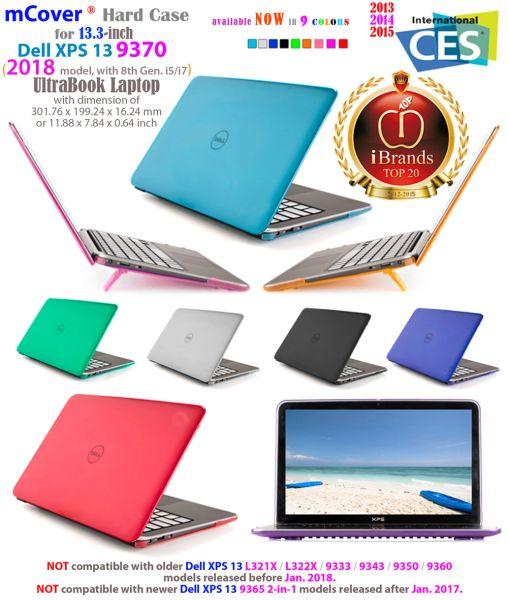 "mCover Hard Shell Case for 13.3"" Dell XPS 13 model 9380 / 9370 (2019 / 2018 model) Ultrabook laptop"