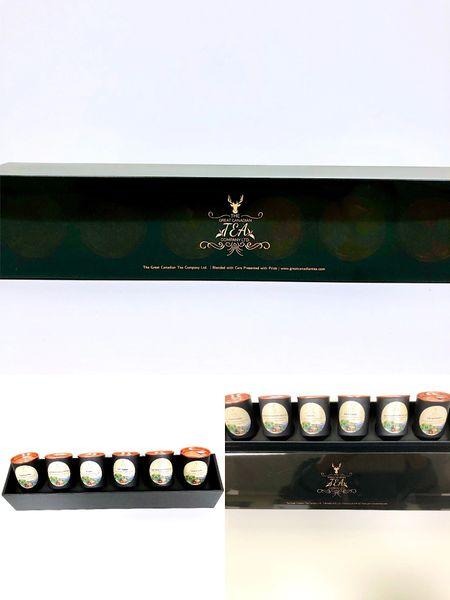 6 Sample English Favorite Black Tea in Luxury Gift box