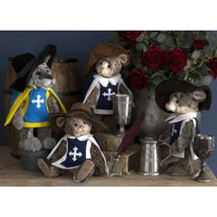 EXCLUSIVE OFFER! Charlie Bears MOUSEKATEERS Set of 4 (Limited to 600 Worldwide)