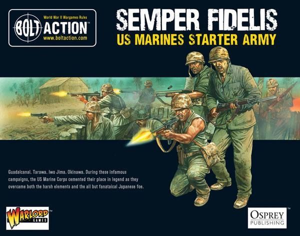 Warlord Games BOLT ACTION US Marine Corps Starter Model Army Box Set