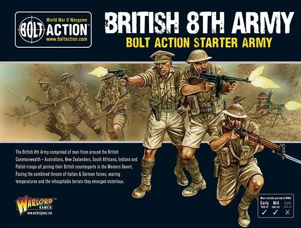 Warlord Games BOLT ACTION British 8th Army Starter Model Army