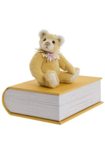 2019 Charlie Bears PAWSOME Yellow Library Book Bear 13cm