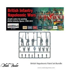 Warlord Games BLACK POWDER British Napoleonic paint set (8) with plastic British