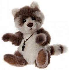 SPECIAL OFFER! Charlie Bears PITTER PATTER Raccoon 17cm (Limited to 2000 Worldwide)
