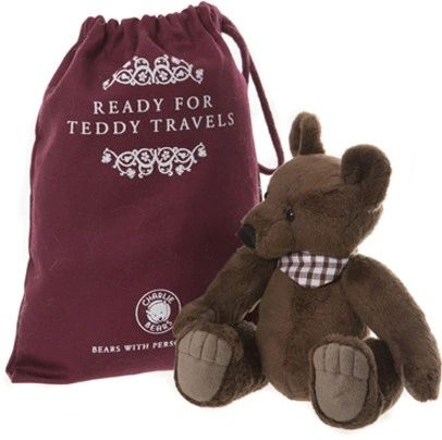 SPECIAL OFFER! 2019 Charlie Bears GALLIVANT Travel Bear 18cm with Gift Bag