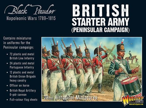 Warlord Games BLACK POWDER Napoleonic British starter army (Peninsular campaign)
