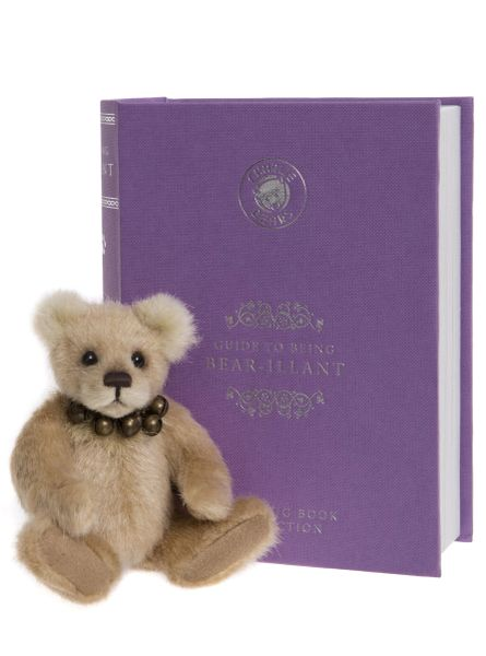 SPECIAL OFFER! 2019 Charlie Bears BEAR-ILLIANT Lilac Library Book Bear 13cm