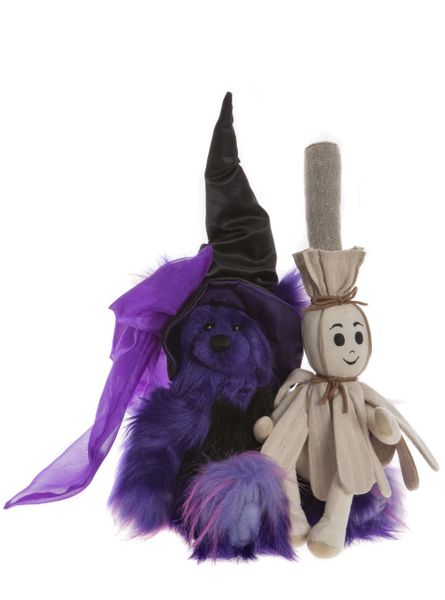 2019 Charlie Bears BROOM & STICKS Halloween Magical Cauldron Collection 43 & 33cm