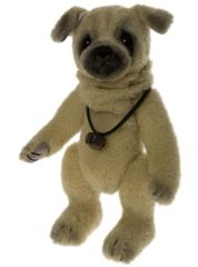 DAILY DEAL 15! UNDER HALF PRICE Charlie Bears Minimo Mohair BONES Dog 20cm (Limited to 2000 Worldwide)