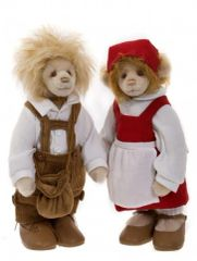 HALF PRICE! Charlie Bears Isabelle Mohair HANSEL & GRETAL 27cm/25cm (Limited to 150 Worldwide)