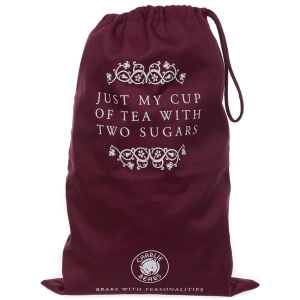 Charlie Bears MEDIUM Drawstring Gift Bag CUP OF TEA 47x34cm