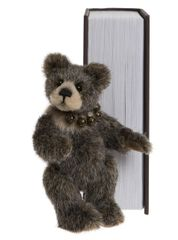 2019 Charlie Bears SNEAKY PEEK Brown Library Book Bear 13cm