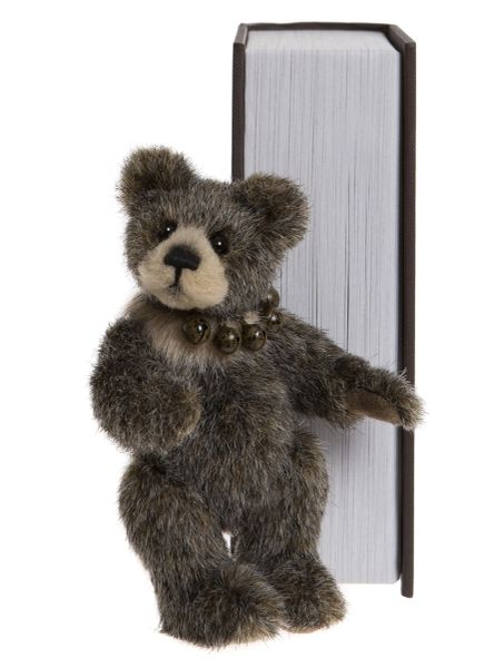 SPECIAL OFFER! 2019 Charlie Bears SNEAKY PEEK Brown Library Book Bear 13cm