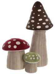 NEW 2019 Charlie Bears TOADSTOOL SET OF 3 (Brown,Red, Green) For Fables Display
