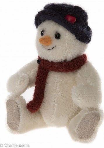 HALF PRICE! Charlie Bears Minimo Mohair Christmas Keyring SHAKE Snowman 12cm (Limited to 1200 Worldwide)