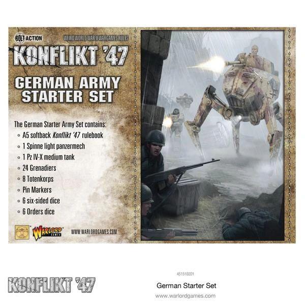 Warlord Games BOLT ACTION German Konflikt '47 Starter Set
