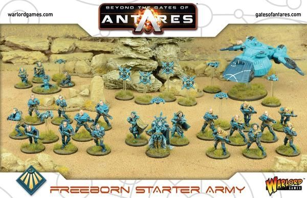 Warlord Games BEYOND THE GATES OF ANTARES Freeborn Starter Army