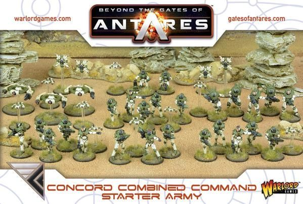 Warlord Games BEYOND THE GATES OF ANTARES Concord Combined Command Starter Army