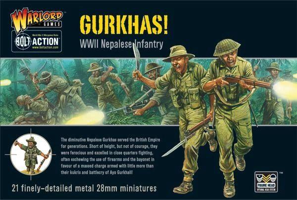 Warlord Games BOLT ACTION Gurkhas boxed set