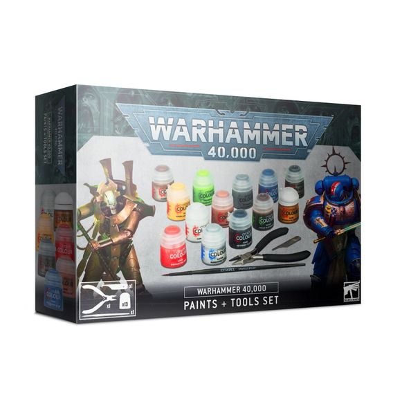 ON SALE NOW! Warhammer 40,000: Paints + Tools Set