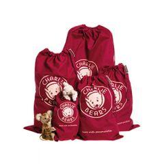NEW Charlies Bears Drawstring Bag SMALL 35x19cm