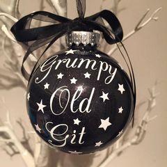"""Grumpy Old Git"" Bauble"