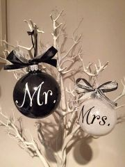 Mr & Mrs Christmas Baubles (set of 2)