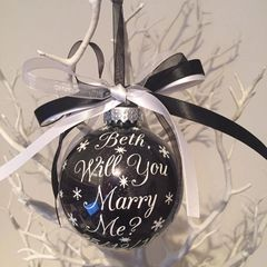 Personalised Will You Marry Me Personalised Bauble