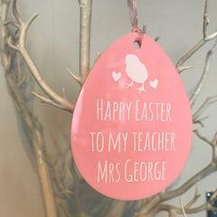 Easter Egg Teacher Ornament (Choice of Colours)