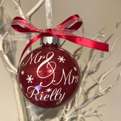 Mr & Mrs Personalised Bauble